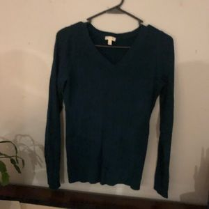 Green ivy V-neck sweater from Talbots